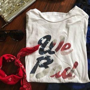 "2PP VINTAGE // White patriotic "" We Bad"" t-shirt"